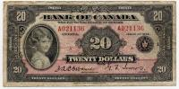 1935, Bank of Canada, 20 Dollars (тип 1)