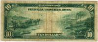 1914, 10 Dollars (B, Burke-Houston), реверс